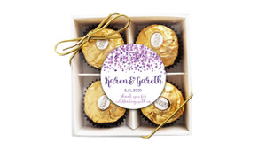 Confetti Purple Wedding Ferrero Rocher Gift Box