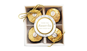 Marble And Gold Wedding Ferrero Rocher Gift Box