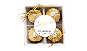 True Love Wedding Ferrero Rocher Gift Box