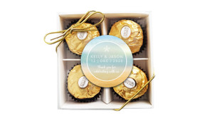 Beach Watercolour Wedding Ferrero Rocher Gift Box