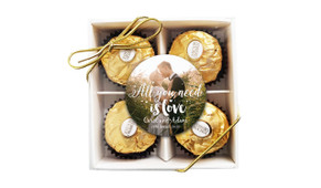 All You Need Is Love Wedding Ferrero Rocher Gift Box