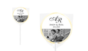 Add A Photo Personalised Wedding Lollipops