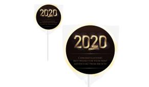 Golden Numbers Personalised Graduation Lollipops