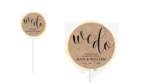 We Do Personalised Wedding Lollipops