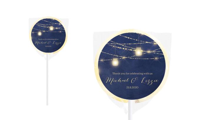 Evening Mason Jars Personalised Wedding Lollipops