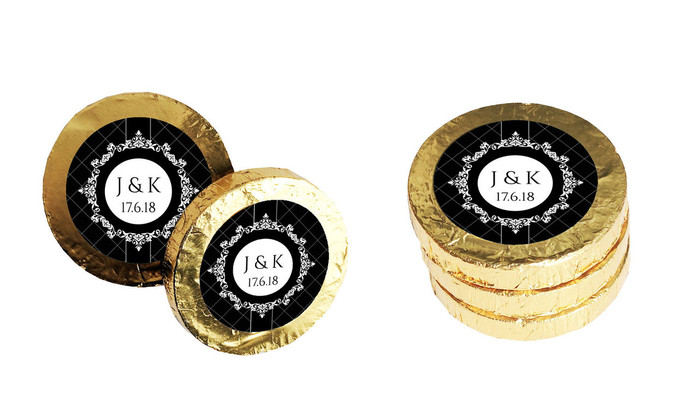 Baroque Personalised Chocolate Coins