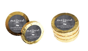 Flowing Text Chalkboard Personalised Chocolate Coins