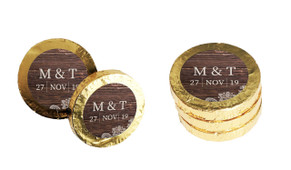 Old Wood & Lace Personalised Chocolate Coins