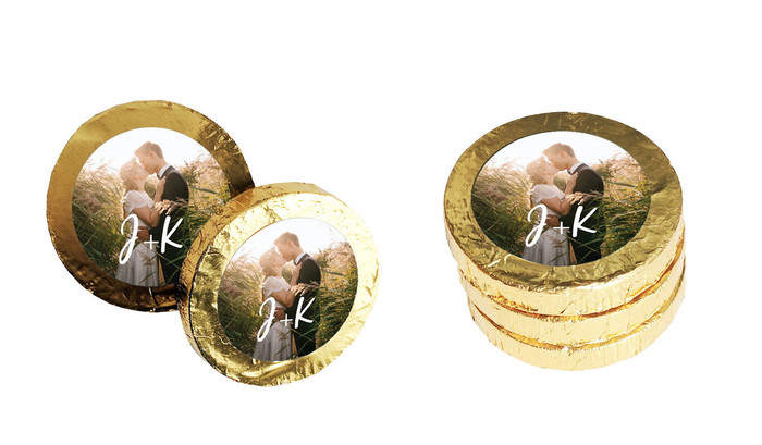 All You Need Is Love Personalised Chocolate Coins