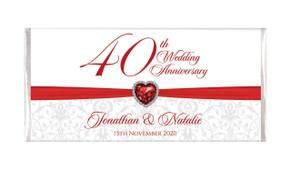 Ruby -  Personalised Wedding Anniversary Chocolates