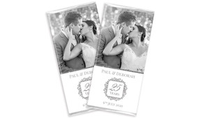 Photo And Emblem In Silver Wedding Anniversary Chocolates