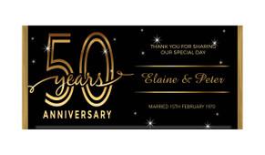 Big Number In Gold Wedding Anniversary Chocolates