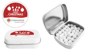 Personalised Christmas Mint Tin With Mints Included