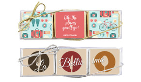 Mini Chocolate Trio Pack In Silver Or Gold