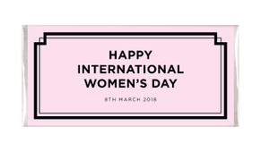 Chic International Womens Day Personalised Chocolate Bar