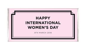 Chic International Womens Day Personalised Chocolate Bar
