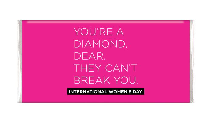 Diamond Womens Day Personalised Chocolate Bar