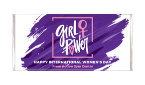 Girl Power International Womens Day Custom Chocolate Bars