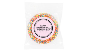 Chic Personalised Womens Day Giant Chocolate Freckle