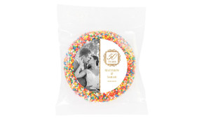 Emblem Gold Anniversary Personalised Chocolate Freckle
