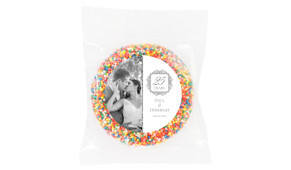 Emblem Silver Anniversary Personalised Chocolate Freckle
