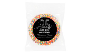 Big Number Silver Anniversary Personalised Chocolate Freckle