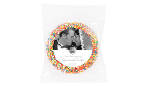 Vertical Then & Now Silver Anniversary Personalised Chocolate Freckle
