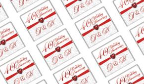 Love Stone Anniversary Personalised Mini Chocolates