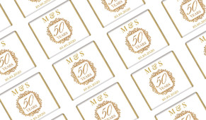 Emblem Gold Anniversary Personalised Mini Chocolates