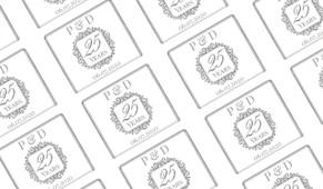Emblem Silver Anniversary Personalised Mini Chocolates