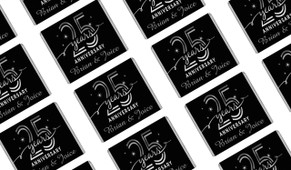Big Number Silver Anniversary Personalised Mini Chocolates