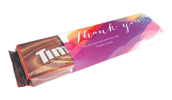 Packet Of TimTams TM With Personalised Sleeve