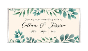 Branches On Cream Personalised Wedding Chocolate Bars