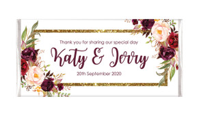 Masala Corners Personalised Wedding Chocolate Bars