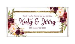 Masala Corners Personalised Wedding Chocolate Bars
