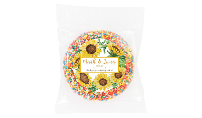 Sunflower Personalised Giant Chocolate Freckles