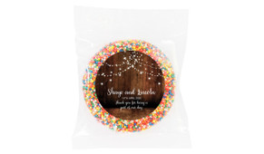 Wood Bunting Personalised Wedding Giant Chocolate Freckles