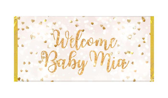 Heart Confetti Birth Announcement Chocolates