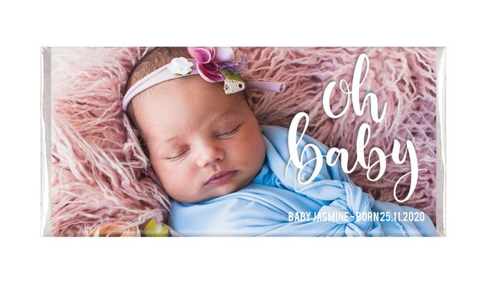 Oh Baby Birth Announcement Chocolates
