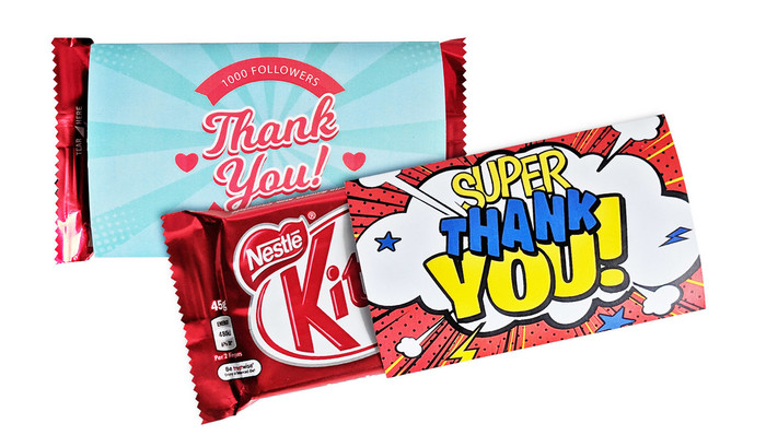 KitKat TM With Personalised Sleeve