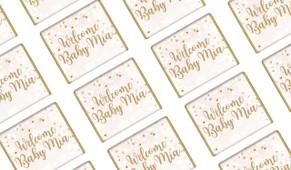 Heart Confetti Birth Announcement Mini Chocolates