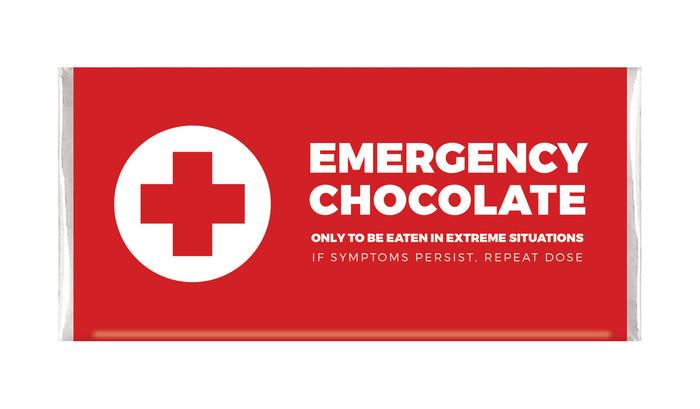 Emergency Chocolate Personalised Chocolate Bars