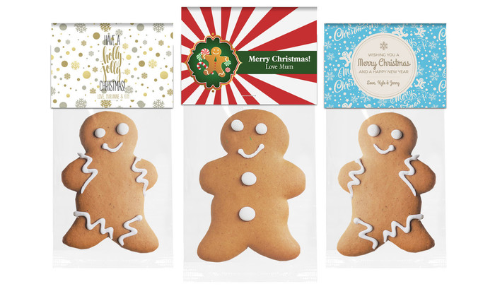 Gingerbread Man With Personalised Topper