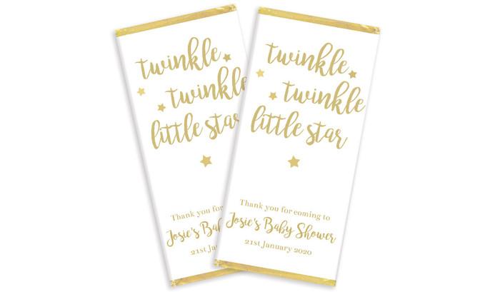 Twinkle Twinkle Personalised Baby Shower Chocolates