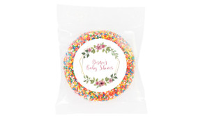 Floral Hexagons Baby Shower Giant Chocolate Freckle