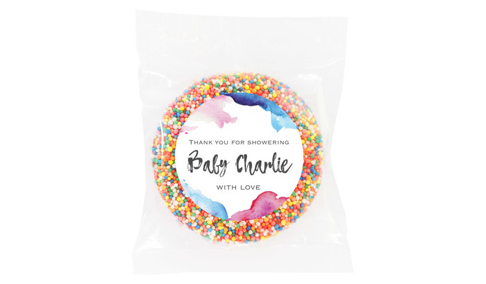 Mixed Water Colour Custom Baby Shower Giant Chocolate Freckle
