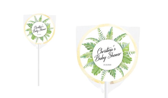Leaves Baby Shower Personalised Lollipop