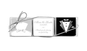 Bride And Groom Mini Chocolate Trio Wedding Favour