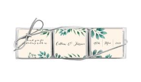 Branches On Cream Mini Chocolate Trio Wedding Favour