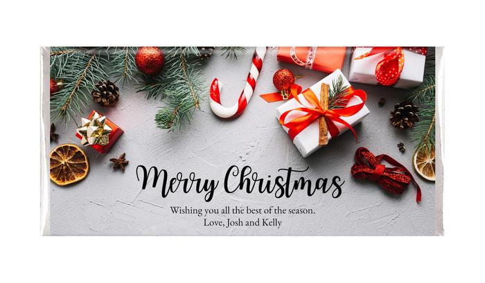 Christmas Background Personalised Chocolates